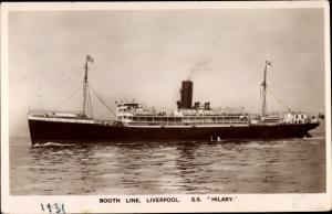 Ak Steamer SS Hilary, Dampfschiff, Booth Line