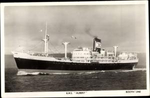 Ak Steamer RMS Hubert, Dampfschiff, Booth Line