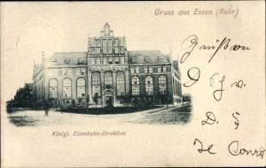 Ak Essen Ruhrgebiet, Königliche Eisenbahn Direktion