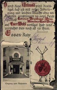 Ak Bredeney Essen im Ruhrgebiet, Hotel Restaurant Ruhrstein, Siegel