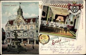 Litho Wappen Ak Essen Ruhrgebiet, Kaiser Cafe