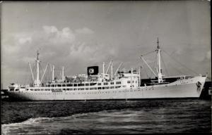 Foto Ak Steamer Anselm, Dampfschiff, United Fruit Company