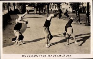 Ak Düsseldorf am Rhein, Radschläger