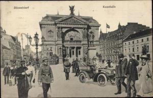 Ak Düsseldorf am Rhein, Kunsthalle, Auto