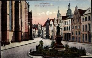 Ak Osnabrück in Niedersachsen, Marktplatz, Stüve Denkmal
