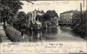 Ak Osnabrück in Niedersachsen, Hasepartie