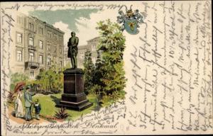 Künstler Litho E.,W., Köln am Rhein, Bismarck-Denkmal