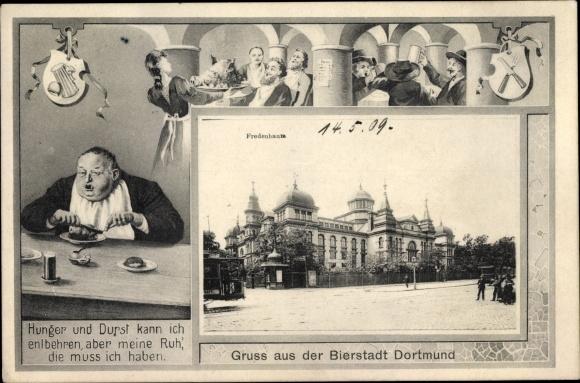 Künstler Passepartout Ak Dortmund im Ruhrgebiet, Bierstadt, Fredenbaum, Gedicht 0