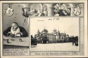 Künstler Passepartout Ak Dortmund im Ruhrgebiet, Bierstadt, Fredenbaum, Gedicht