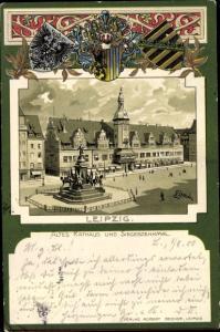 Wappen Künstler Litho Loesch, E., Altes Rathaus, Siegesdenkmal