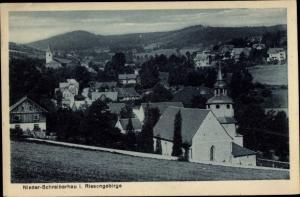 Ak Szklarska Poręba Schreiberhau Riesengebirge Schlesien, Niederschreiberhau, Kirche