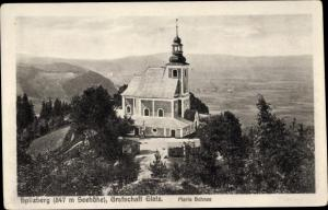 Ak Międzygórze Wölfelsgrund Schlesien, Spitzberg, Kirche Maria Schnee