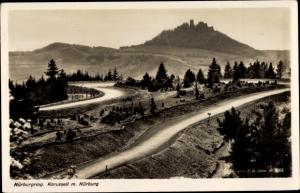 Ak Nürburg in Rheinland Pfalz, Nürburgring, Karussell, Burg