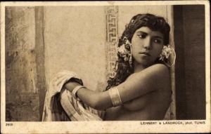 Ak Types d'Orient, Danseuse arabe, Araberin, Busen, Maghreb