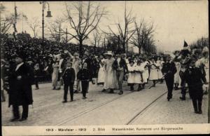 Ak Hamburg, Märzfeier 1913, Waisenkinder, Kurrende, Bürgerwache
