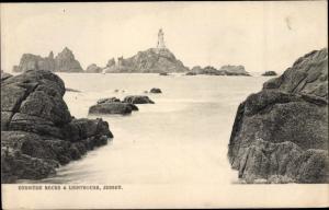 Ak Kanalinsel Jersey, Corbiere Rocks and Lighthouse