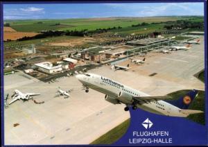 Ak Flughafen Leipzig Halle, Deutsches Passagierflugzeug, Lufthansa