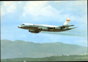 Ak Spanisches Passagierflugzeug, Spantax, Convair CV 990 A Coronado