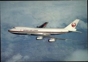 Ak Japanisches Passagierflugzeug, Japan Air Lines, Boeing B 747 The Garden Jet