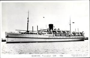 Ak Steamer Dilwara, Dampfschiff, British India Steam Navigation Company