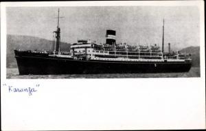 Foto Ak Steamer Karanja, Dampfschiff, British India Steam Navigation Company