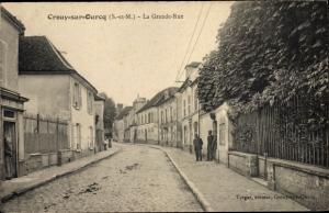 Ak Crouy sur Ourcq Seine et Marne, La Grande Rue