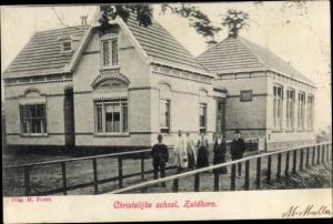 Ak Zuidhorn Groningen Niederlande, Christelijke school