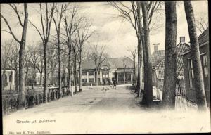 Ak Zuidhorn Groningen Niederlande, Straßenpartie
