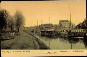 Ak Zuidbroek Groningen Niederlande, Spoorstraat