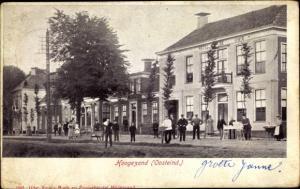 Ak Hoogezand Oosteinde Groningen, Straßenpartie, Anwohner