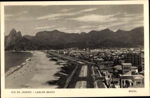 Ak Rio de Janeiro Brasilien, Leblon Beach