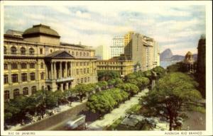 Ak Rio de Janeiro Brasilien, Avenida Rio Branco