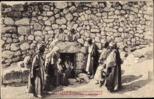 Ak Bethanie Jerusalem Israel, Le tombeau de Lazare