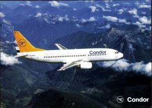 Ak Deutsches Passagierflugzeug, Condor, Boeing 737 300, D ADWA
