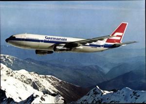 Ak Deutsches Passagierflugzeug, Germanair, Airbus A 300 B 4