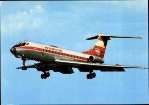Ak Deutsches Passagierflugzeug, Interflug, Tupolew TU 134, DM SCG