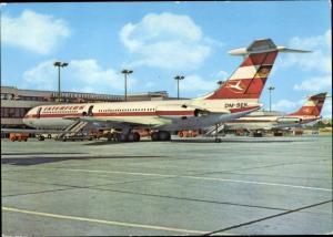 Ak Flughafen Berlin Schönefeld, Deutsches Passagierflugzeug, Interflug, Iljuschin IL 62, DM SEH