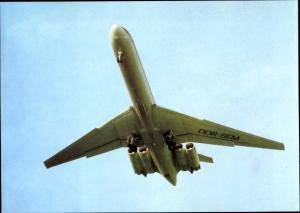 Ak Deutsches Passagierflugzeug, Interflug, Iljuschin IL 62, DDR SEM