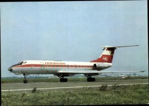 Ak Deutsches Passagierflugzeug, Interflug, Tupolew TU 134
