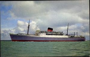 Ak Steamer Braemar Castle, Dampfschiff, Union Castle Line
