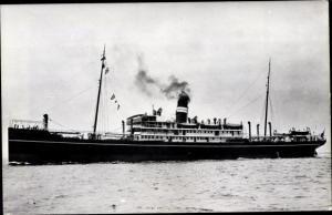 Foto Ak Steamer Varsova, Dampfschiff, British India Steam Navigation Company