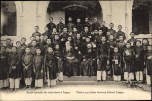 Ak Saigon Cochinchine Vietnam, Ecole normale de catechistes, Native catechists' training School
