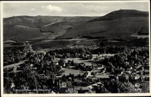 Ak Szklarska Poręba Schreiberhau Riesengebirge Schlesien, Weißbachtal, Panorama