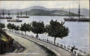 Ak Hobart Tasmanien, Esplanade an Harships