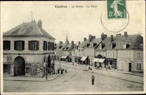 Ak Contres Loir-et-Cher, La Mairie, La Place