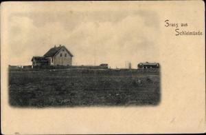 Ak Kappeln an der Schlei, Lotseninsel Schleimünde, Häuser