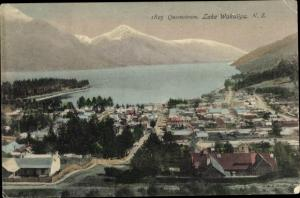 Postcard Queenstown Neuseeland, Lake Wakatipu
