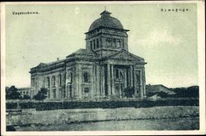 Judaika Ak Częstochowa Tschenstochau Schlesien, Synagoga