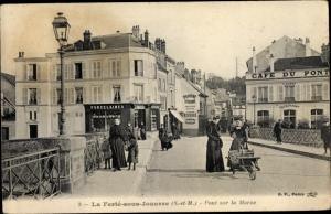 Ak La Ferté sous Jouarre Seine et Marne, Pont sur la Marne