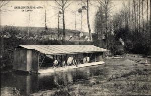 Ak Sabeonières Seine et Marne, Le Lavoir